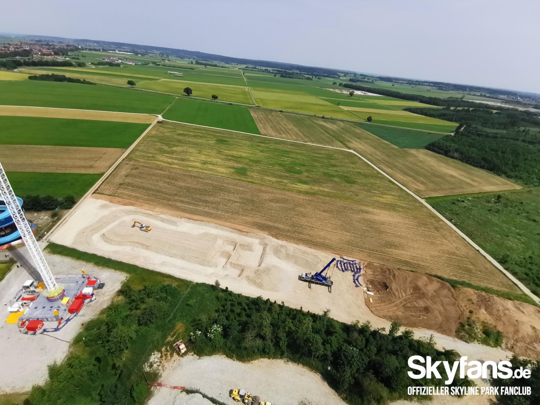 Baustelle hinter Sky Rafting 19.06.2021